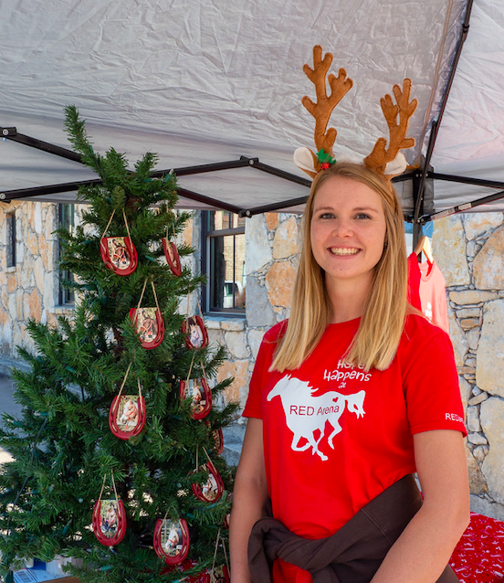 """Kendall Randow from Red Arena seen during Dripping Springs' """"Christmas on Mercer"""" event, Saturday, December 7th, 2019. Photo by Dave Wilson."""