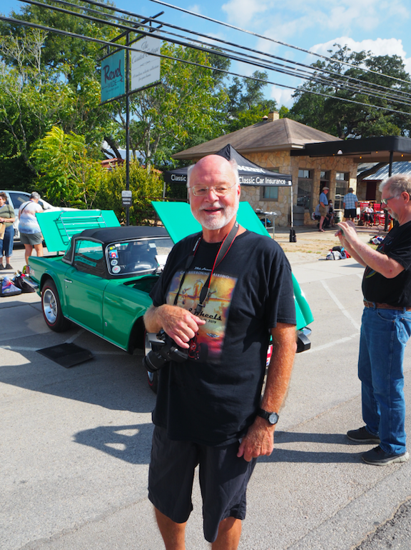 Dripping Springs resident, and Triumph enthusiast, Dick Thielen took plenty of photos of all the cars on display. He owns a TR Herald.