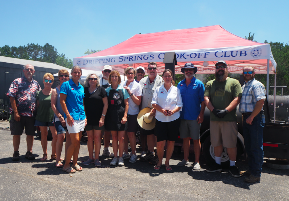 The Dripping Springs Cook-Off Club donated the BBQ for the event.