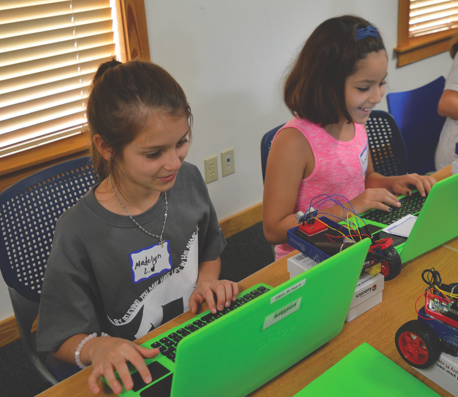 Madelyn Luera and Ximena Diaz are two of the seven girls in the class.