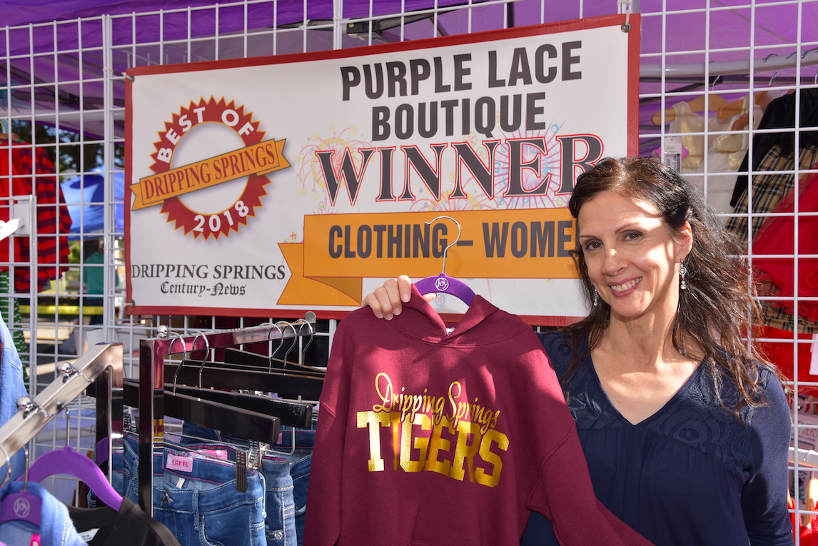 Isabel Jankowski, co-owner of Purple Lace Boutique, was on hand to help with your Christmas shopping.