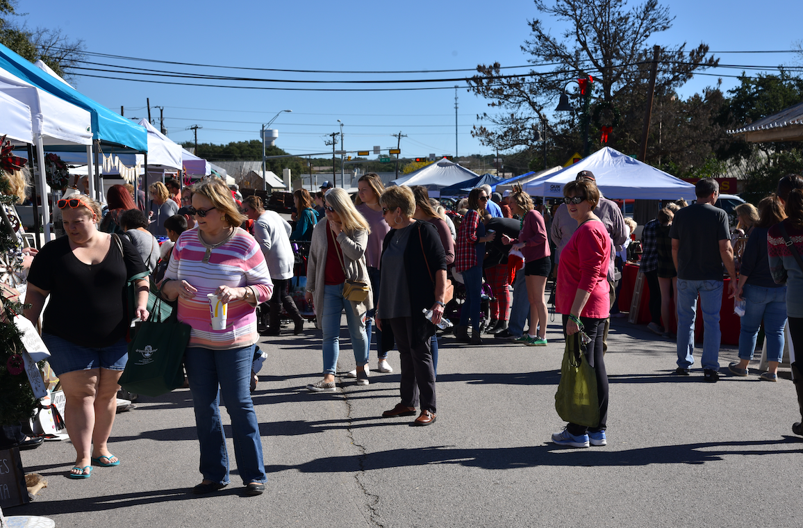 Mercer Street was filled with shoppers and holiday cheer.