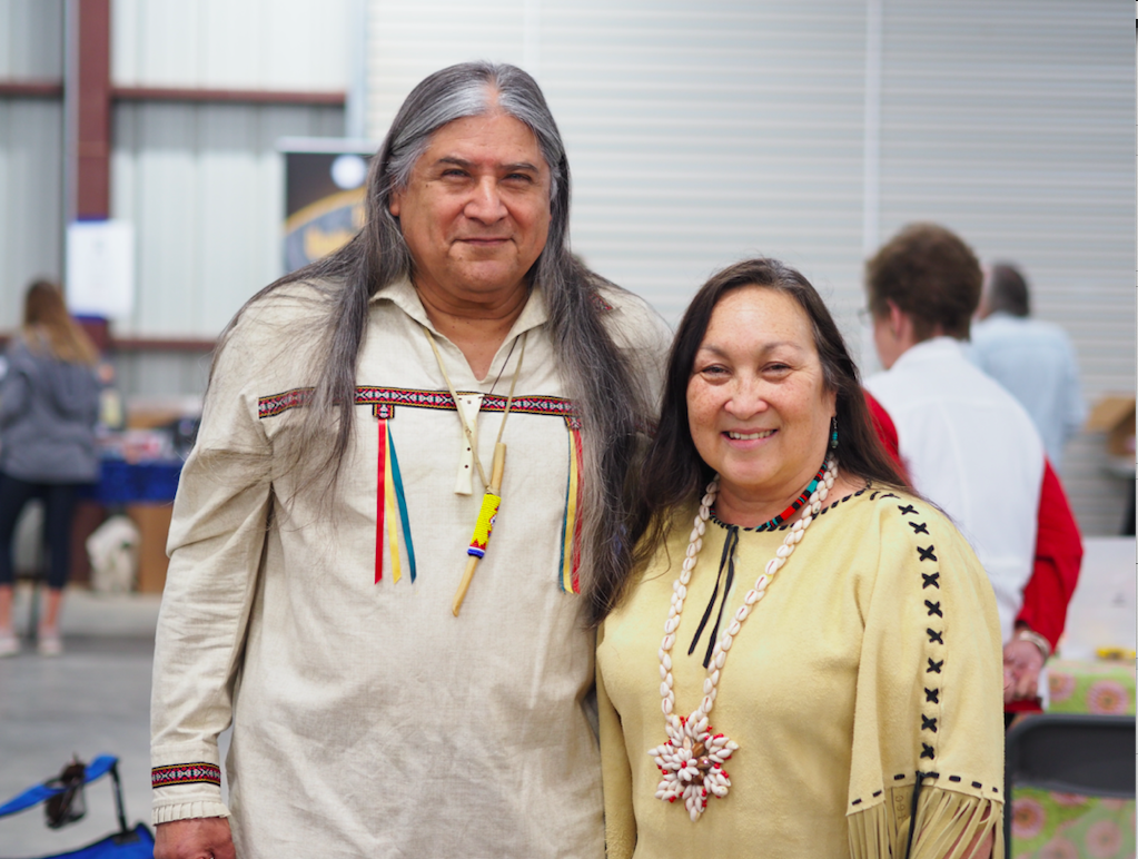 "Tejas Winds Lasard ""Chief"" Arrida and Julie Land Bridges were on hand to tell Native American Indian stories about the night sky."