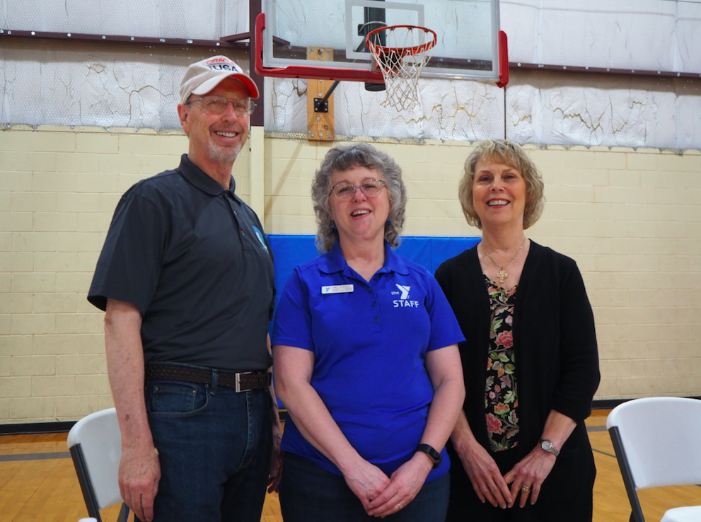 Representing their organizations at the fair were- David Edwards for the Dripping Springs Hometown Missions; YMCA Membership Coordinator Pat Surguy, who organized the fair; and Becky Edwards, President of the Dripping Springs Womens Club.