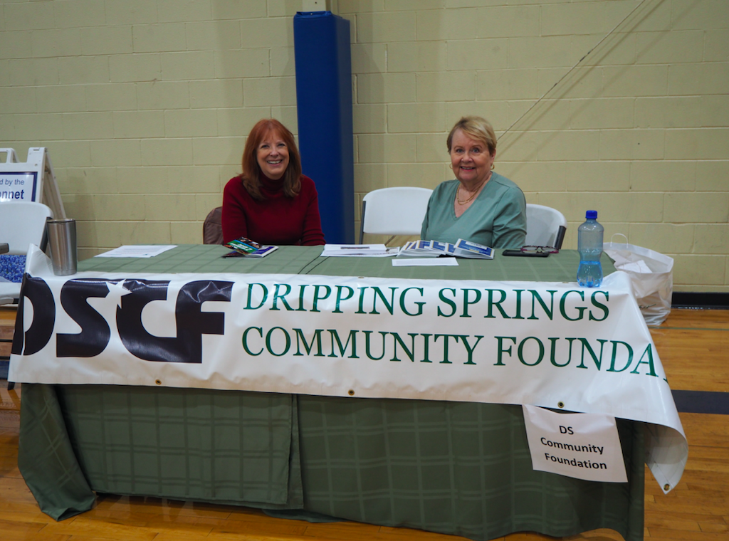 Chris Marcum and Judy Carter, Board Members of the Dripping Springs Community Foundation manned a table at the fair. The DS Community Foundation serves as a resource for donors and for local nonprofit organizations by encouraging and facilitating philanthropic gifts and delivering grants, training, support and visibility to community support organizations.