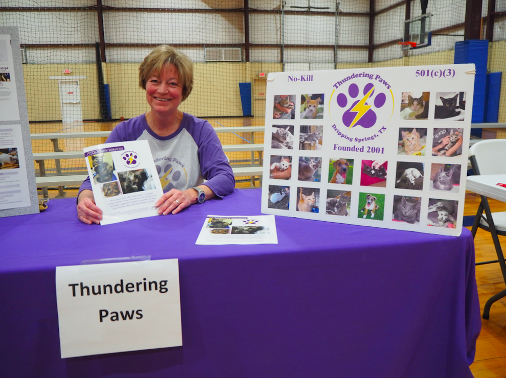 Sharon Bennett, a Board Member of Thundering PAWS, hosted the Thundering PAWS table. Thundering PAWS adoptable animals are carried weekly by the Century News.